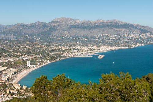 Coastal view of Costa Blanca in Spain